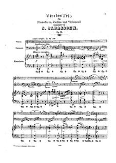Klaviertrio Nr.4 in c- Moll, Op.85: Partitur by Salomon Jadassohn