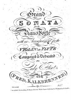 Sonate für Klavier und Flöte (oder Violine), Op.22: Klavierstimme by Friedrich Kalkbrenner