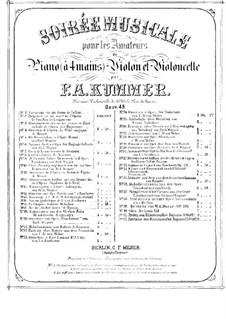 Fragmente: Nr.9, 10, für Violine, Cello und Klavier, vierhändig – Klavierstimme by Richard Wagner