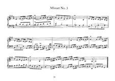 Menuett Nr.3 in G-Dur, BWV 843: Für Cembalo by Johann Sebastian Bach