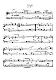 Menuett in c-Moll: Für Cembalo by Johann Sebastian Bach