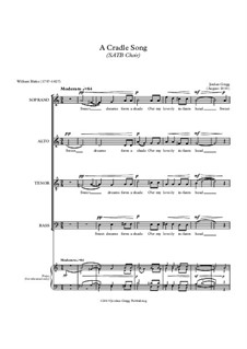 A Cradle Song (SATB Choir): A Cradle Song (SATB Choir) by Jordan Grigg