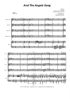 And the Angels Sang: For Saxophone Quartet and Piano by Felix Mendelssohn-Bartholdy, folklore, Richard Storrs Willis