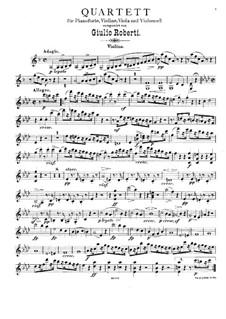 Klavierquartett in f-Moll: Violinstimme by Giulio Roberti