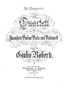 Klavierquartett in f-Moll: Vollpartitur by Giulio Roberti