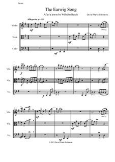 The Earwig Song: Für Streichtrio by David W Solomons