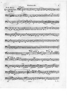 Quartett Brillant Nr.4 für Flöte, Violine, Viola und Cello, Op.42: Cellostimme by Friedrich Fesca