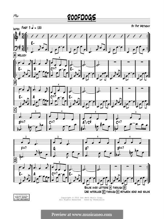 Roofdogs: Für Gitarre by Pat Metheny