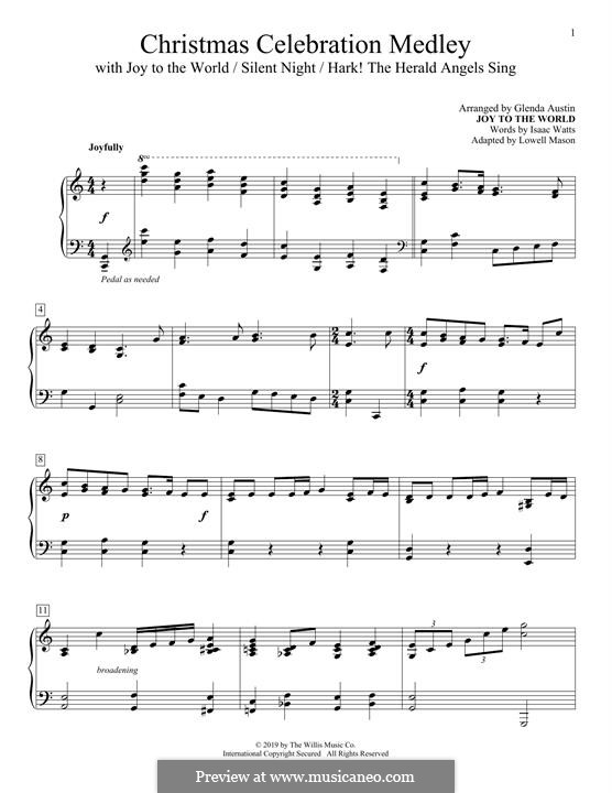 Christmas Celebration Medley: Christmas Celebration Medley by Georg Friedrich Händel, Felix Mendelssohn-Bartholdy, Franz Xaver Gruber