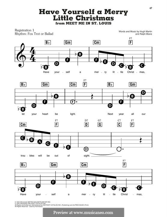 Have Yourself a Merry Little Christmas: For easy piano by Hugh Martin, Ralph Blane