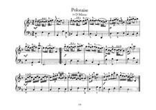 Nr.24 Polonäse in d-moll, BWV Anh.128: Cembalo by Johann Sebastian Bach