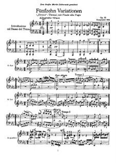 Fünfzehn Variationen und Fuge über ein eigenes Thema (Eroica-Variationen), Op.35: Für Klavier by Ludwig van Beethoven