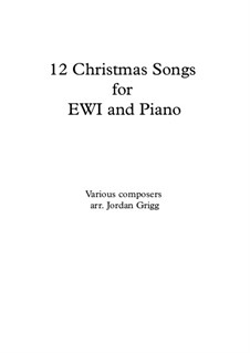12 Christmas Songs: For EWI and piano by folklore
