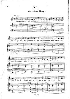 Nr.7 Auf einer Burg: Klavierauszug mit Singstimmen (auf Deutsch) by Robert Schumann