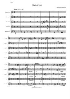 Malgré Moi: For saxophone quintet by David W Solomons