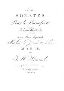 Drei Sonaten für Violine, Cello und Klavier, Op.16: Sonate Nr.3 in As-Dur by Friedrich Himmel