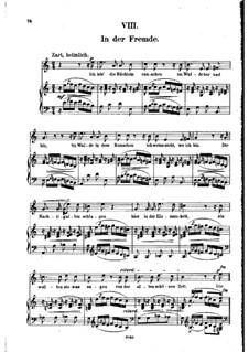 Nr.8 In der Fremde: Klavierauszug mit Singstimmen by Robert Schumann