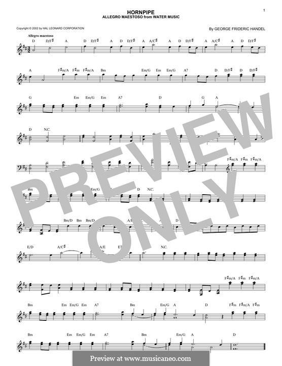 Suite Nr.1 in F-Dur, HWV 348: Allegro, for any instrument by Georg Friedrich Händel
