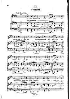 Nr.9 Wehmut: Klavierauszug mit Singstimmen (auf Deutsch) by Robert Schumann