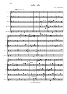 Malgré Moi: For flute quintet (with piccolo) by David W Solomons
