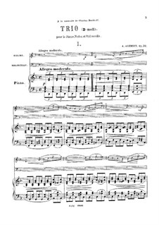 Klaviertrio Nr.1 in d-Moll, Op.32: Vollpartitur by Anton Arenski