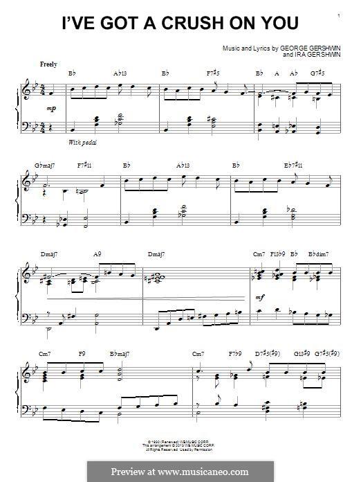 I've Got a Crush on You: Für Klavier by George Gershwin