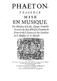 Phaëton, LWV61: Vollpartitur by Jean-Baptiste Lully