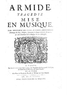 Armide, LWV 71: Vollpartitur by Jean-Baptiste Lully