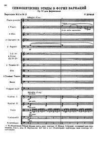 Sinfonische Etüden, Op.13: Nr.11-12, für Orchester by Robert Schumann