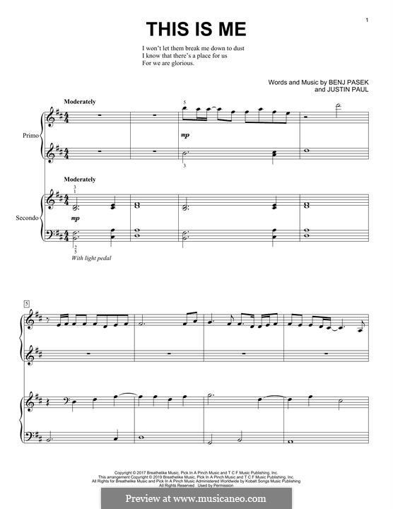 This is Me: Für Klavier by Justin Paul, Benj Pasek