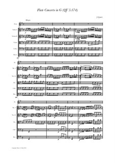 Konzert für Flöten und Orchester Nr.161, QV 5:174: Score, parts by Johann Joachim Quantz