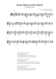 Guten Abend schön Abend: For guitar solo (C Major) by folklore