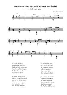 Ihr Hirten erwacht, seit munter und lacht!: For guitar solo (F Major) by folklore