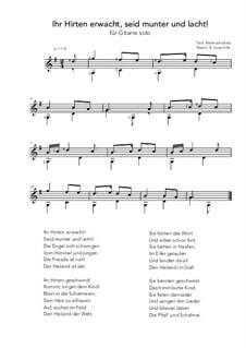 Ihr Hirten erwacht, seit munter und lacht!: For guitar solo (G Major) by folklore