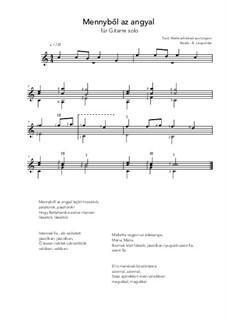 Mennybol az angyal: For guitar solo (C Major) by folklore