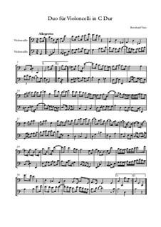 Sonate für 2 Violoncelli C Dur: Sonate für 2 Violoncelli C Dur by Bernhard Vass