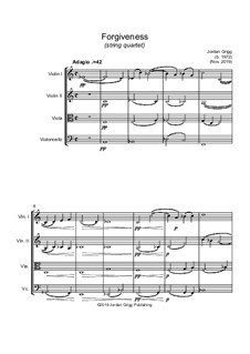 Forgiveness (string quartet): Forgiveness (string quartet) by Jordan Grigg