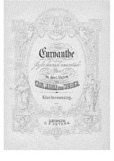 Vollständiger Oper: Klavierauszug mit Singstimmen by Carl Maria von Weber