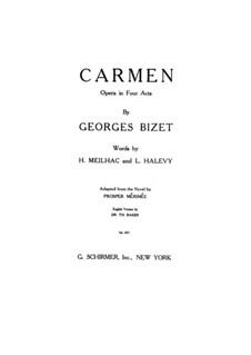 Vollständiger Oper: Klavierauszug mit Singstimmen by Georges Bizet