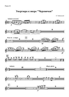 Die Pantöffelchen, TH 8: Overture – flute II part by Pjotr Tschaikowski