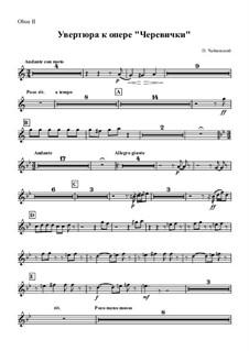 Die Pantöffelchen, TH 8: Overture – oboe II part by Pjotr Tschaikowski