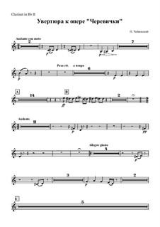 Die Pantöffelchen, TH 8: Overture – clarinet II part by Pjotr Tschaikowski