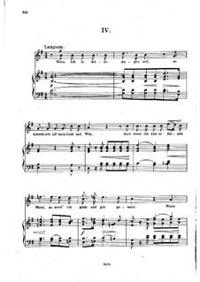 Nr.4 Wenn ich in deine Augen seh: Klavierauszug mit Singstimmen (auf Deutsch) by Robert Schumann