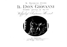 Fragmente: Akt I. Partitur by Wolfgang Amadeus Mozart