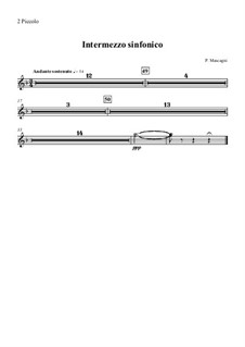 Cavaleria rusticana: Intermezzo – flute piccolo part by Pietro Mascagni