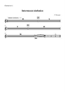 Cavaleria rusticana: Intermezzo – clarinet part by Pietro Mascagni