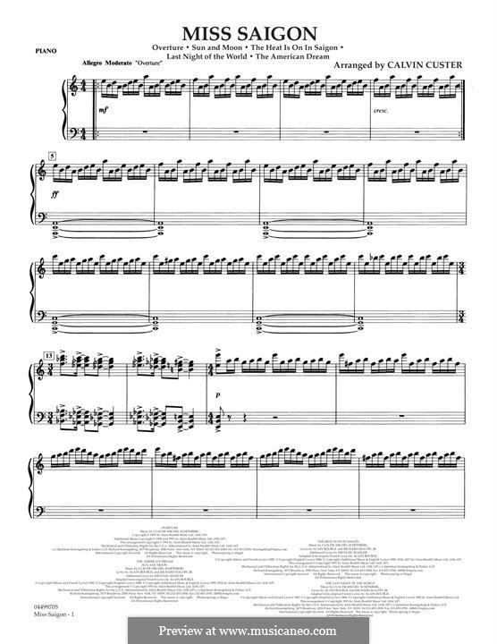 Miss Saigon: Klavierstimme by Claude-Michel Schönberg