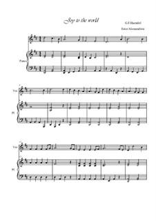 Freue dich Welt: Für Violine und Klavier by Georg Friedrich Händel
