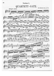 Streichquartett Nr.12 in c-Moll, D.703: Violinstimme I by Franz Schubert