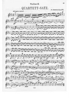 Streichquartett Nr.12 in c-Moll, D.703: Violinstimme II by Franz Schubert